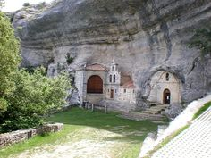 Casa del Parque de Ojo Guareña, Spain — by Claus van Mierlo. The small church and former Townhall in the cave. Very impressive! Rest Of The World, Places Around The World, Travel Around The World, Around The Worlds, Places In Europe, Places To Travel, Places To Visit, Romanesque Architecture, Architecture Old