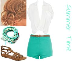 """""""Summer Time"""" by lu-ribeiro ❤ liked on Polyvore"""