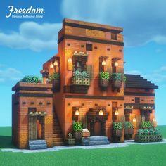 Minecraft Restaurant, Minecraft Shops, Minecraft House Plans, Minecraft Mansion, Minecraft Cottage, Minecraft House Tutorials, Cute Minecraft Houses, Minecraft City, Minecraft House Designs