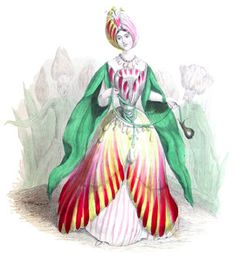 I found one more in the Fairy Series hiding in another folder. I guess she wanted to pop out this Spring with the other tulips! Mardi Gras Costumes, Old Cards, Gravure, Vintage Fashion, Vintage Style, Vintage Prints, Reuse, Tulips, Recycling