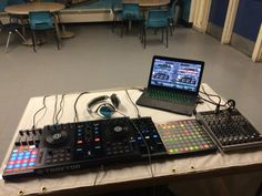 Set up for my school's open house.