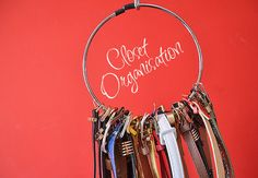 A circular belt hanger can keep all your belts in order and accessible — without the danger of all of them falling off when you go to pick out one belt.   21 Useful Things That Will Actually Organize Your Closet