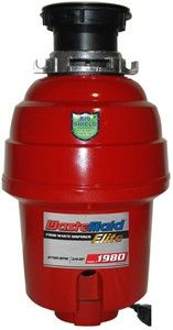 wastemaid > elite 1980 waste disposal unit with continuous feed (deluxe). - taps4less.ie