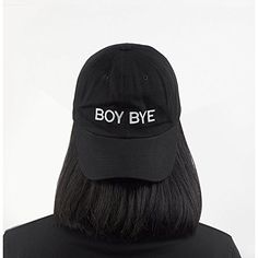 5d246a4584374 BOY BYE Embroidered Hat 100% Cotton Baseball Cap For Men And Women (Black)