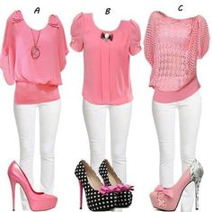 Pink and White Outfits