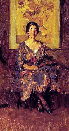 Israels, Isaac (Dutch, 1865-1934) - Sitting Lady in front of Van Gogh's Sunflowers - 1917-20 | Flickr - Photo Sharing!