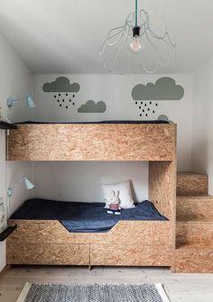 Simply Control and Monitor Your Enjoyable Smart Home - DIY Kinderzimmer Ideen Kid Beds, Bunk Beds, Boho Bedroom Decor, Bedroom Ideas, Bedroom Images, Cozy Bedroom, Bedroom Wall, Bedroom Lighting, Modern Bedroom
