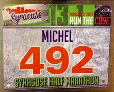 2nd Half Marathon - SYRACUSE HALF.  March 23, 2014.  Syracuse, NY.  Time 2:29:32hrs (11:25). Running Bibs, Marathon, March, Marathons, Mac