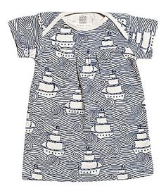 Love the patterns! Winter Water Factory Short Sleeve Baby Dress on diapers.com