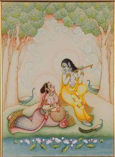 Radha Raman Miniature Painting
