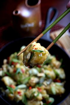 Olives for Dinner   General Tso's Cauliflower by Jeff and Erin's pics, via Flickr