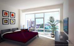 1330 Boylston Street, Boston Apartment Bedroom Rendering. ::   Artist & Modeler: Cleo.    Architectural Modeler: Patrick Anderson.    Architecture & Interior Design: Elkus-Manfredi.    Developer: Samuels & Associates RE.
