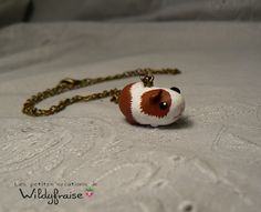 Little guinea pig necklace  polymer clay  handmade by Wildyfraise, €11.00