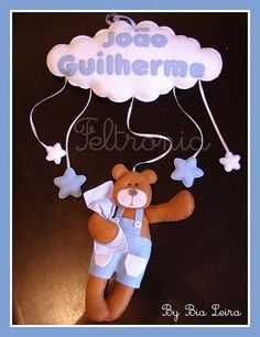 Enfeite de Porta Urso... by Feltronia by Bia Leira, via Flickr