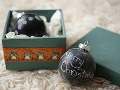 Christmas Chalk Ornament