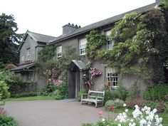 Beatrix Potter's home in the Lake District, England.  Beatrix Potter is best known for her beautifully illustrated children's books of Peter Rabbit, Jemima Puddle-Duck and friends.  Absolutely charming!