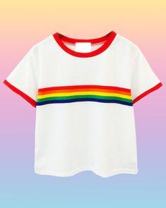 Gay Af Rainbow Crop Top - INU INU
