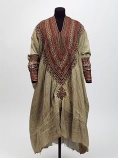 Woman's gown made in Abyssinia (now Ethiopia) in the 1860s