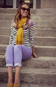 How I can wear my light purple pants Purple Jeans Outfit, Purple Dress Outfits, Lit Outfits, Purple Pants, Office Outfits, Fashion Outfits, Pants Outfit, Lavender Outfit, Lavender Jeans