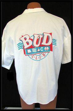 30% SALE Mens Vintage 1980 anheuser busch BEER bud beach club vintage shirt