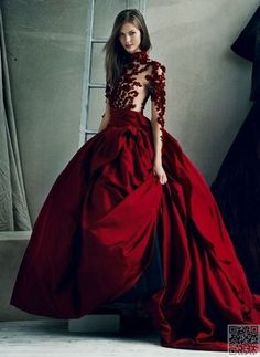 31 of the Most #Stunning Red Ball Gowns in the World ... → #Fashion #Gowns