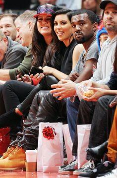 Khloe Kardashian Odom, Kim Kardashian, and Kanye W