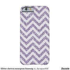 Glitter chevron monogram Samsung  case Barely There iPhone 6 Case
