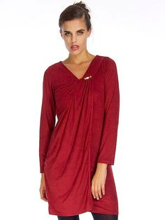 MOLLY BORDEAUX SHIFT DRESS