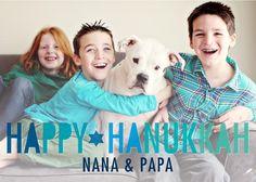 Eight Joyful Nights - Hanukkah Greeting Cards in Stormy Blue | Magnolia Press