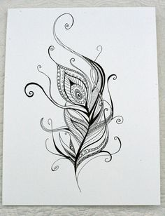 Henna Feather Border Clipart - Clipart Kid