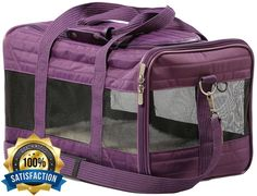 Southwest Airline Pet Carrier JetBlue American Under Seat Approved Plum Small #Sherpa