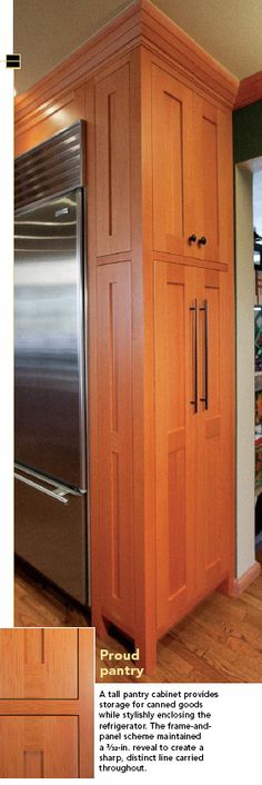 Built In Refrigerator Cabinet Surround Traditional