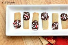 Holiday Chocolate Dipped Shortbread