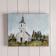 """""""Places That Are Special"""" Church Canvas Painting by Vicki Denaburg"""