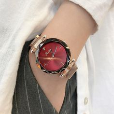 Buy it before it ends. There is always many products on sae upto - 2019 Luxury Brand lady Crystal Watch Magnet buckle Women Dress Watch Fashion Quartz Watch Female Stainless Steel Wristwatches - Fast Mart Elegant Watches, Beautiful Watches, Casual Watches, Cool Watches, Watches For Men, Women's Watches, Luxury Watches, Female Watches, Analog Watches