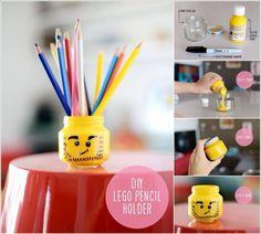 Porte crayon Lego