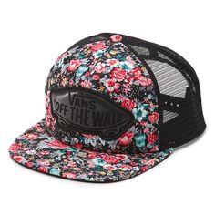 852f3a76981 Floral Beach Girl Trucker Hat Hats For Women