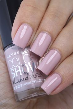 grape fizz nails: Maybelline The Blushed Nudes, Mink Lust