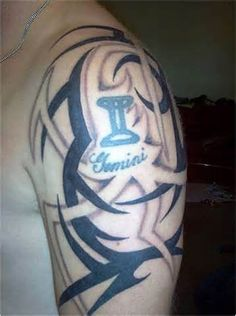 The 25 best gemini tattoos on shoulder for men images on pinterest tribal gemini tattoos for men nice tattoo on publicscrutiny Image collections