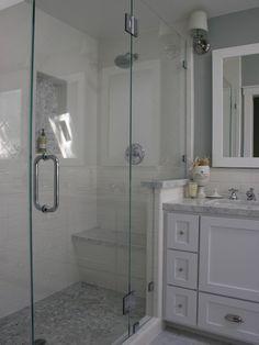 White Subway Tile Shower Design