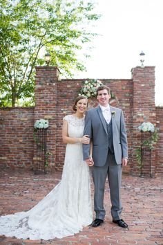 Bride and Groom at Carl House ceremony site