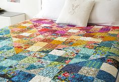 Color Dive Half-Square Triangle Quilt with @annamariahorner on Creativebug