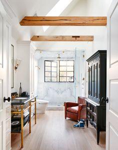 Inside a Dreamy Nate Berkus and Jeremiah Brent–Designed 1925 Tudor Nate Berkus, Architectural Digest, Brian Robbins, Jeremiah Brent, Ikea, Shower Fittings, Boho Home, Tudor House, Iron Doors