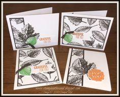 Stampin' in the Sand: Super Simple Sunday: Vintage Leaves Thank You Cards. Stampin Up Vintage leaves stamp set