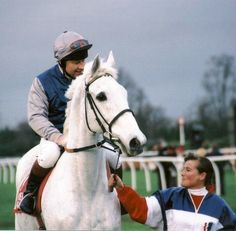 Desert Orchid - extremely rare thoroughbred racehorse. Gorgeous!