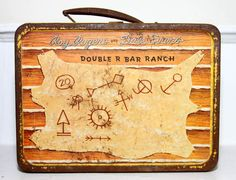 1930's lunch boxes | 1950's Roy Rogers and Dale Evans lunch box, Double R Bar Ranch. Great ...