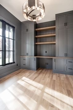 Custom built-on-site cabinetry in this home office from Altadore Home Office Space, Home Office Design, Home Office Decor, House Design, Office Ideas, Home Decor, Office Cabinet Design, Basement Home Office, Hallway Office