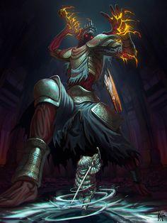Yhorm, my old friend - Dark souls III by kajinman.deviantart.com on @DeviantArt