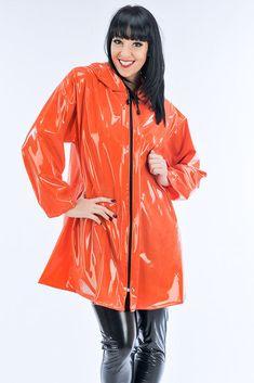 Green PVC Rain Jacket | * * * * * PVC4Fun * * * * * | Pinterest