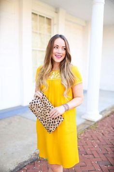 @roressclothes clothing ideas #women fashion Little Yellow Tee Shirt Dress: